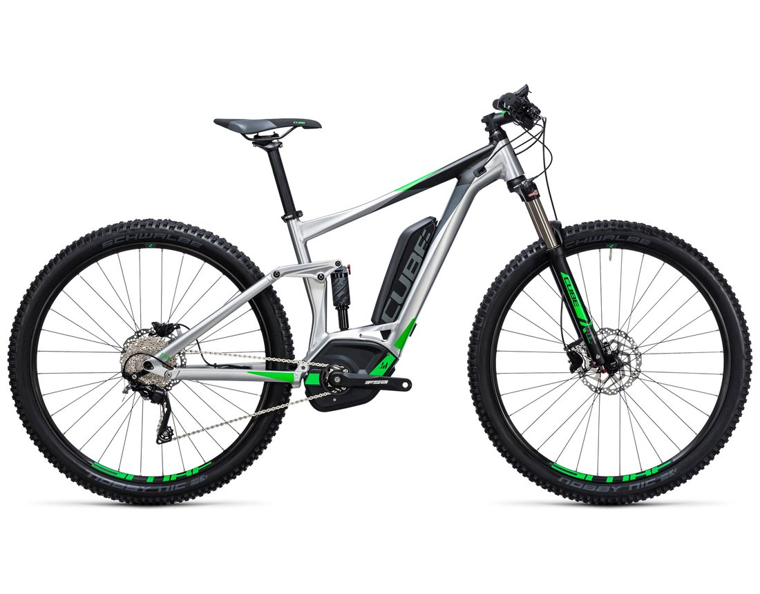 Bicicletas electricas doble suspension cube