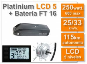 KIT electrico bicicleta Platinium LCD5 FT 16